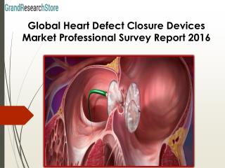 Global Heart Defect Closure Devices Market Professional Survey Report 2016