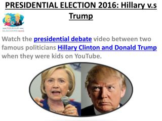 Donald Trump vs Hillary Clinton Presidential Debate