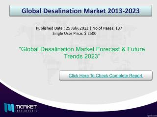 Global Desalination Market Opportunities & Trends 2023