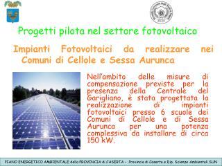 Progetti pilota nel settore fotovoltaico