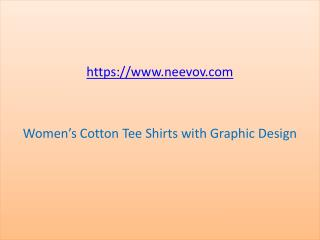 Womens Cotton Tee Shirts Black 2 Colour with Graphic Design