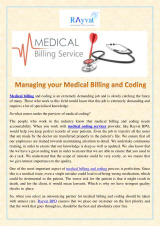 Managing your Medical Billing and Coding