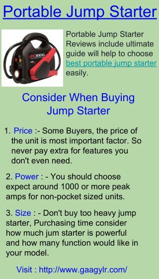 The Portable Jump Starter - Gaagylr