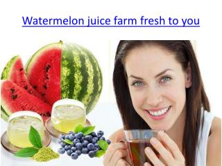 Tsamma Watermelon Juice-hydrating and rejuvenating powers