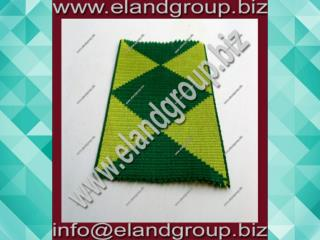 Dark Green and Yellow Diamond Regalia Ribbon