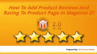 Add Product Reviews and Rating in Magento 2 Product Page - Tutorial