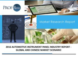 Automotive Instrument Panel Industry, 2011-2021 Market Research