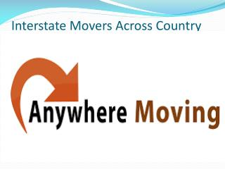 Interstate Movers Across Country