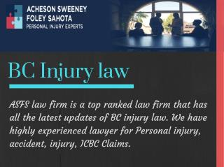 Need a legal advice for PI Claims, Accident injury, ICBC Claims in Canada?