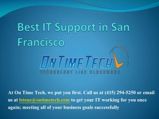 IT support San Francisco
