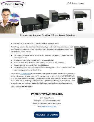 PrimeArray Systems Provides Cdrom Server Solutions