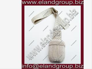 German Silver Bullion Wire Sword Knot