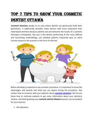 Top 7 Tips To Grow Your cosmetic dentist Ottawa