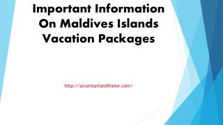 Important Information On Maldives Islands Vacation Packages