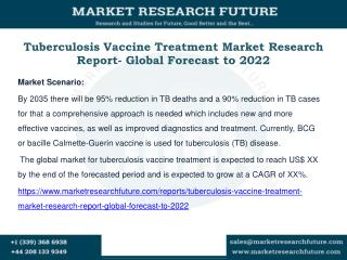 Tuberculosis Vaccine Treatment Market Research Report- Global Forecast to 2022