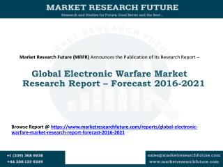 Global Electronic Warfare Market Research Report – Forecast 2016-2021