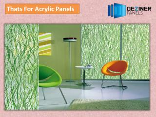 Thats For Acrylic Panels