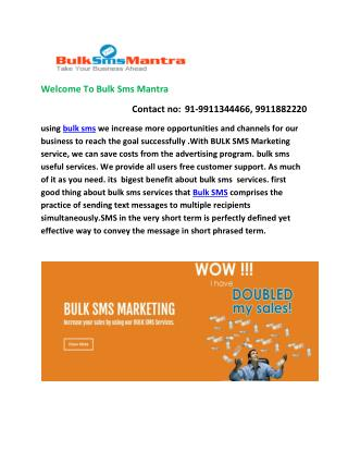 Best Lowest Bulk SMS services Provider Company