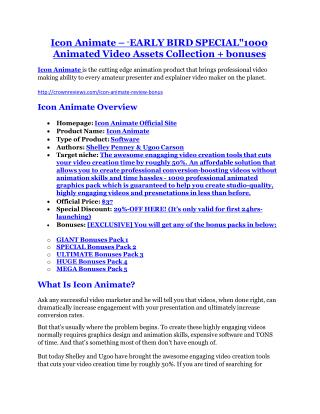 Icon Animate Review & Icon Animate $16,700 bonuses