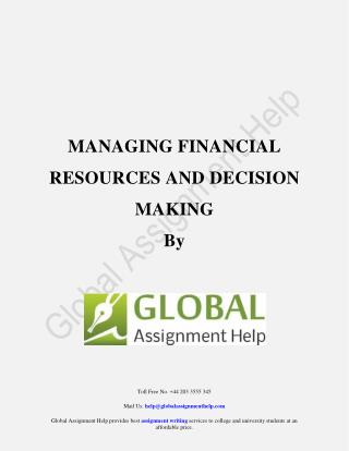 Sample PDF on Managing Financial Resources and Decision Making