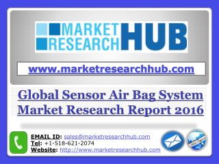 Global Sensor Air Bag System Market Research Report 2021