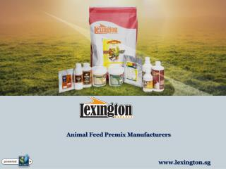Animal Feed Premix Manufacturers