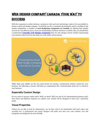 Your Way To Success With Canada Web Design Company