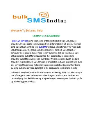 Advantage of using Bulk SMS Services