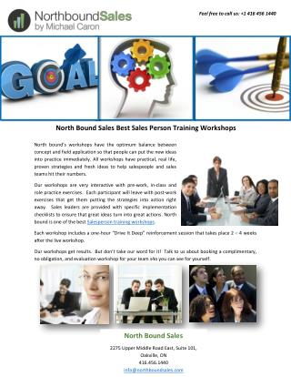 North Bound Sales Best Sales Person Training Workshops