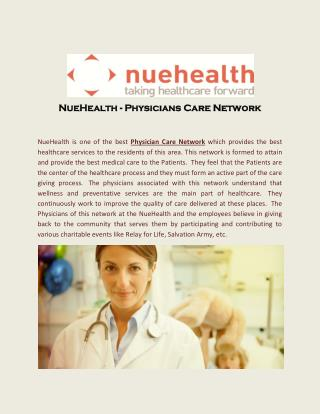 NueHealth - Physicians Care Network