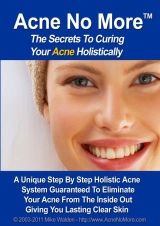 Acne No More PDF Download - Mike Walden eBook