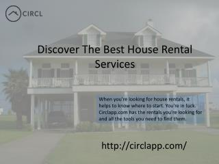 CIRCL | Discover The Best House Rental Services Toronto