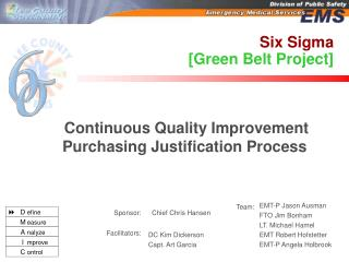Six Sigma [Green Belt Project]