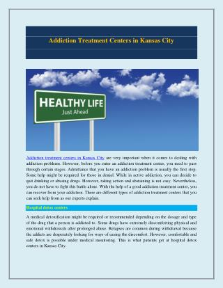 Addiction Treatment Centres in Kansas City