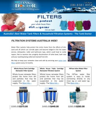 Australia's Best Water Tank Filters & Household Filtration Systems - The Tank Doctor