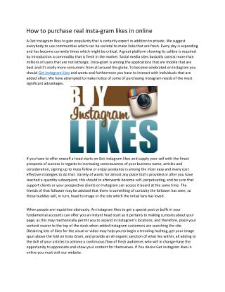 How To Get Instagram likes Fast