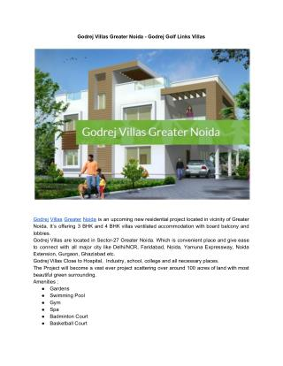 Godrej Villas Greater Noida - Godrej Golf Links Villas