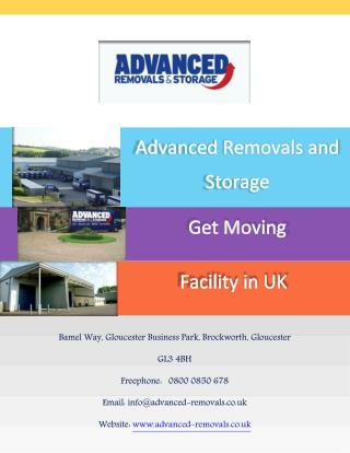 Advanced Removals and Storage : Get Moving Facility in UK