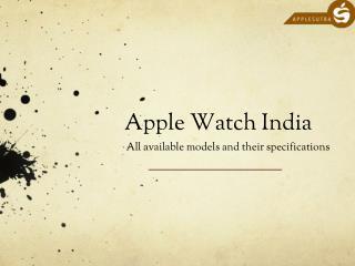 Apple Watch India