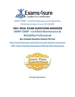 CMRP Exam Questions