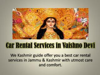 Delhi to vaishno devi car rental services