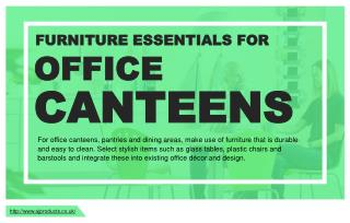 Basic furniture that businesses should invest in for canteens