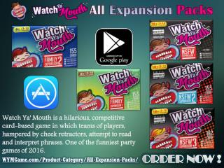 Watch Ya' Mouth Game - All Expansion Packs