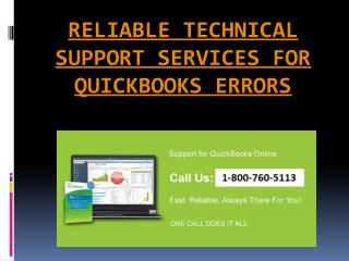 Impeccable technical support for quick books error