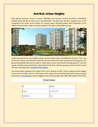Antriksh urban heights