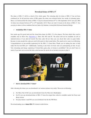 FIFA 17 Download APK
