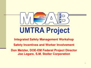 Integrated Safety Management Workshop Safety Incentives and Worker Involvement