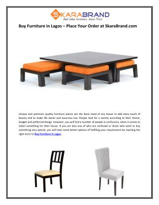 Buy Furniture in Lagos – Place Your Order at SkaraBrand.com