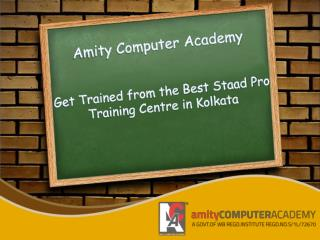Get Trained from the Best Staad Pro Training Centre in Kolkata