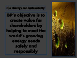 Our strategy and sustainability, BP Holdings Barcelona